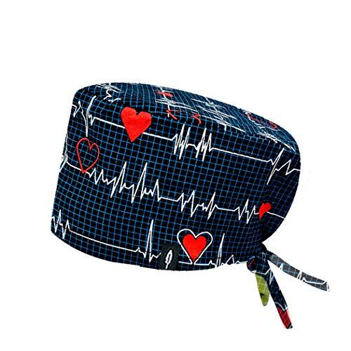 ROBIN HAT - Cuffie da sala Operatoria ELECTROCARDIOGRAMA - CAPELLI LUNGHI - 100% cotone (Autoclave) - Massima comodità