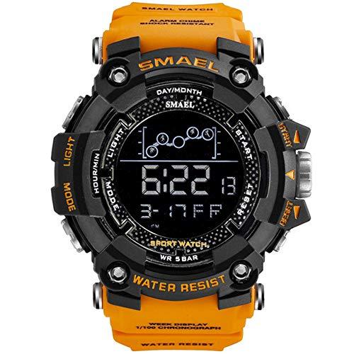 Reloj de Hombre Reloj Deportivo Militar Resistente al Agua Reloj cronómetro Digital para Hombre 1802 Relojes Militares Hombre Reloj Masculino
