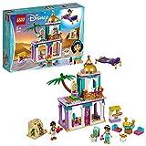 Include 2 mini-doll: Jasmine e Aladdin, più un uccello LEGO Contiene un palazzo giocattolo costruibile con 3 sale, una terrazza e un balcone, tappeto magico con funzione volante, bancarella del mercato e l'ingresso della Caverna delle Meraviglie apri...