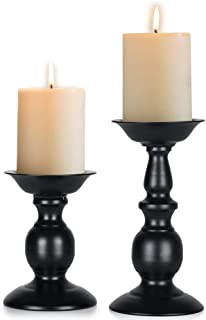 Retro Iron Candle Holder Cylindrical Candle Holder Table Candle Holder for Wedding, Festival and Birthday Candlelight Dinner Decorative Light Home Décor Ornament Wedding Table Ornament (2Pcs/set)