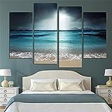 LianLe Stampa su Tela/Quadro su Tela, Oceano Stampa in qualita Fotografica, Senza Telaio Wall Art Decorazioni per la casa