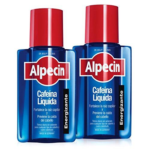Alpecin Cafeina Liquida 2x 200 ml | Locion anticaida cabello hombre | Tratamiento para caida de pelo hombre | Tratamientos contra alopecia areata androgenetica | Producto para evitar caida pelo