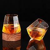 Copa de vidrio de vidrio de vidrio de whisky conjunto de vidrio con forma de vidrio en forma de vidrio octagonal bar de vidrio extranjero vidrio blanco vidrio vidrio