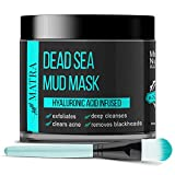 Matra Naturals Dead Sea Mud Mask for face, acne & blackheads – Hyaluronic Acid infused – Free...