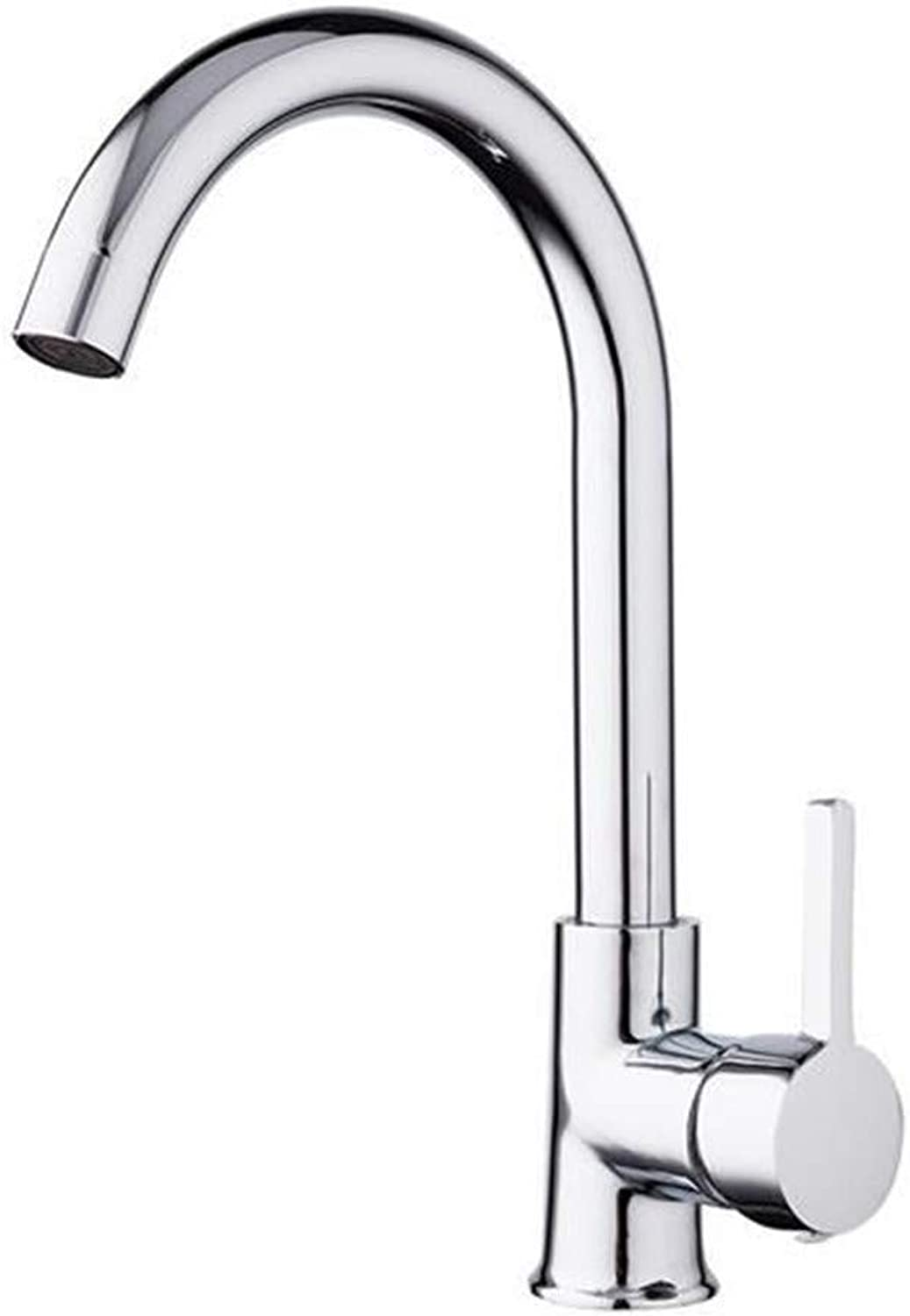 Brass Kitchen Modern Kitchen Faucet Mixer Cold and Hot Kitchen Tap Single Hole Water Tap Zinc Alloy