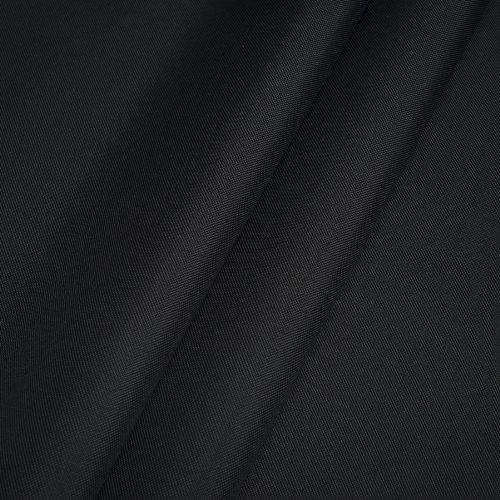 Erstklassiger Polyester Oxford 250D 1lfm - Wasserabweisend, Winddicht, Outdoor Stoff, Gartenmöbel Stoff (Schwarz)