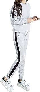 [エアバイ] スウェット 上下 セットアップ ライン入り トレーナー らくちん パンツ 部屋着 スポーツ レディース S~2XL