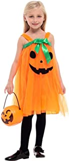 Halloween Cosplay Kids Fancy Dress Costume, Children's Pumpkin Costume, Suitable for Ordinary Stage Wear (Color : Orange, Size : L)