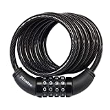Master Lock 8114D Set Your Own Combination Bike Lock, 6 Ft. Long, Black...