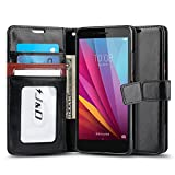 J&D Case Compatible for Huawei Honor 5X Case, [Wallet Stand] [Slim Fit] Heavy Duty Protective Shock Resistant Flip Cover Wallet Case for Huawei Honor 5X Wallet Case - Black