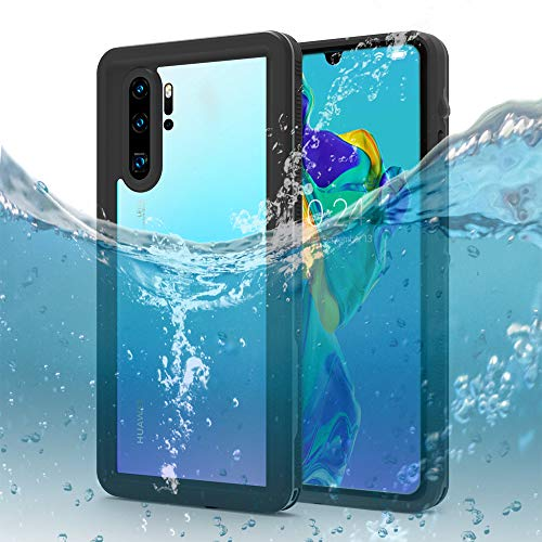 Capa à prova d'água para Huawei P30 Pro, certificação Dooge IP68, à prova de neve/à prova de choque, totalmente vedada, capa protetora resistente de corpo inteiro com protetor de tela e alça de pulso para Huawei P30 Pro 2019