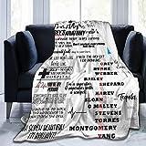 Greys-Anatomy Blanket Super Soft Fleece Throw Blankets for Living Room Bedding Sofa Bedroom Blankets Decor Three Sizes 50x40