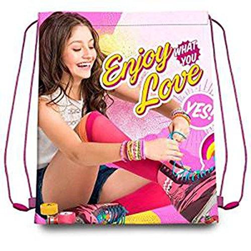 Disney Soy Luna Kinder Turnbeutel Schuhbeutel Sportbeutel mit Kordelzug, 41 cm, Rosa (Rose)