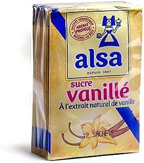 Alsa Vanilla Flavored Sugar with Natural Vanilla Extract - 12 x 7.5 g pack