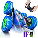 Remote Control Car, Uniway RC Stunt Car 360°Flips Double Sided Rotating Vehicles, 4 Wheel Drive, 2.4GHz Super Off-Road Toys Christmas Birthday Gifts for Boys Girls Kids 3+ Years Old