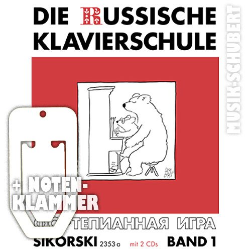 De Russische piano school Band 1 (+ 2 CDs) incl. praktische muziekklem - piano spelen leren volgens de beroemde Russische piano methode (Russische pianoschool) (zakboek) van Alexander Nikolajew (noten/Sheetmusic).