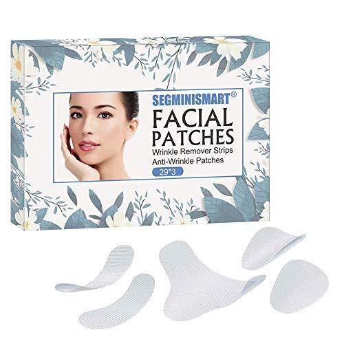 Facial Patches,Anti Aging Gesichts Anti-Falten-Patches,Stirn-Falten-Patches, Augen-Falten-Patches,Faltenbehandlung Wiederverwendbare glättende Falten-Patches…