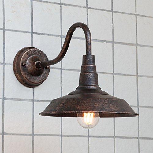 Amerikanische Persönlichkeit Retro Nostalgie Außenwand Lampe Gang Halle Balkon wasserdichte Wand Lampe schmiedeeisernen Außen Terrasse Beleuchtung (Farbe : Antik Farbe)