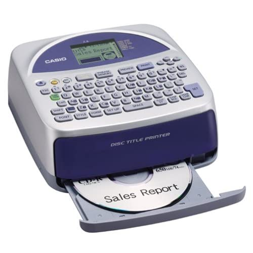 Amazon.com : Casio Disc Title Printer with Qwerty keyboard ...