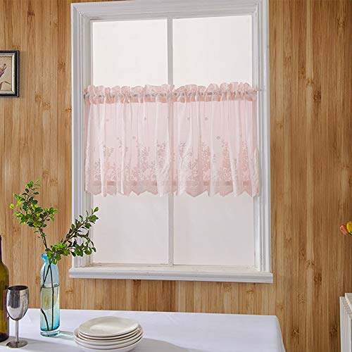Longzhuo Korte gordijnen, vitrage voor kokosnoot, koffie, schijfgordijn, dragen, kleine gordijnen, kant, kort gordijn, badkamer, Windowsill gordijnen, thuis, decoratie, geborduurd gaas, keukengordijn