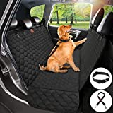 Dog Car Seat Cover Protector Thicken, Waterproof Nonslip Pet Seat Cover, Hammock Heavy Duty Scratch-Proof Back Seat Cover Mattress for Dogs Fits Most Cars Trucks SUVs - Black