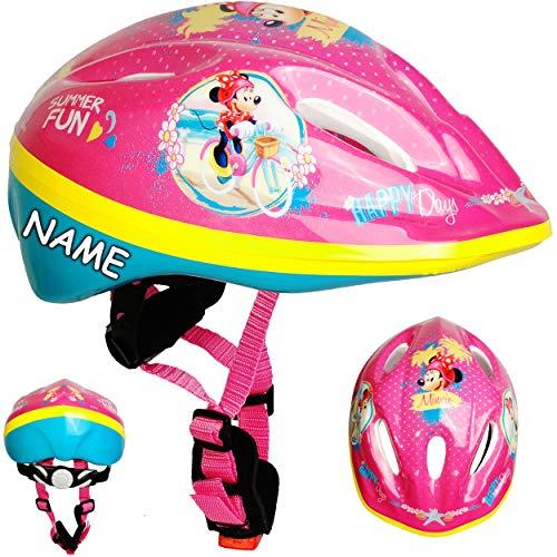 alles-meine.de GmbH Kinderhelm / Fahrradhelm - Disney - Minnie Mouse - Gr. 52 - 56 - Circa 3 bis 15 Jahre - inkl. Name - Größen verstellbar / mitwachsend - TÜV geprüft - Helm - f..