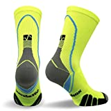 Vitalsox VT5810 Italian Support & Odor Control Crew Socks (1 pair- fitted) Best For Running, Travel, Yoga, Gym, Basketball, Sports Yellow, Medium