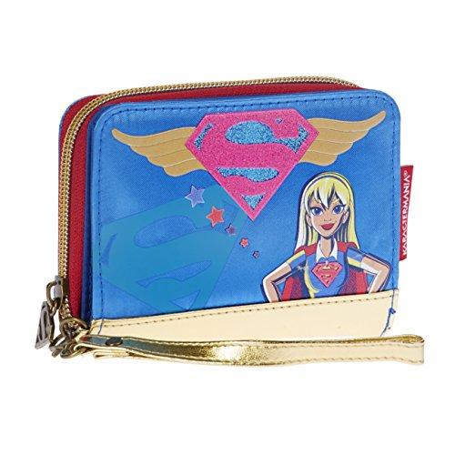 Karactermania DC Super Hero Girls Monedero, 12 cm, Azul