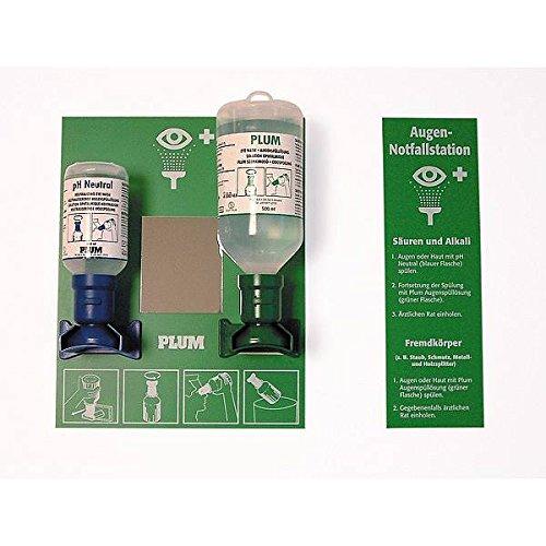 LEMAX® Augen-Notfallstation je 1 Flasche NaCl/Ph. Wandhalterung Kunststoff