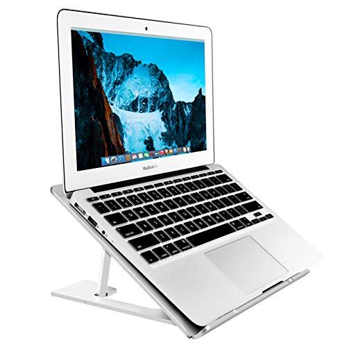 Soudance regolabile ventilato di supporto per scrivania, Portable supporto ergonomico Compact riser per Apple Mac MacBook Pro Air e tutti i computer, alluminio argento AS1