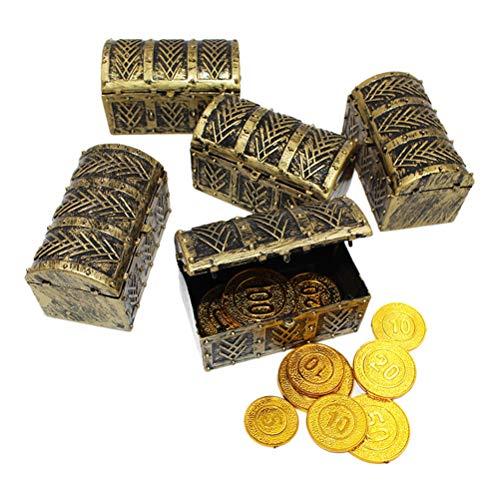 Einsgut Piraten schatkist grote schatkist met slot kofferkist houten kist schatkist vintage look piraat schatkist hout