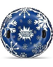 Tubo de nieve inflable para trineos, trineos de nieve para niños y adultos, tubo de nieve de alta resistencia con asas fuertes, material espesante a prueba de congelación y resistente al desgaste