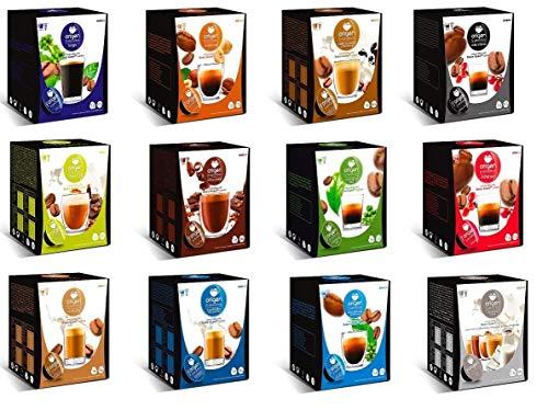 CAPSULAS DE CAFE COMPATIBLES CON MAQUINA DOLCE GUSTO PACK 64 ORIGEN SENSATIONS (AVELLANA)