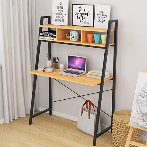LEPAK Computer Desk for Home with Storage Shelf Modern Simple...