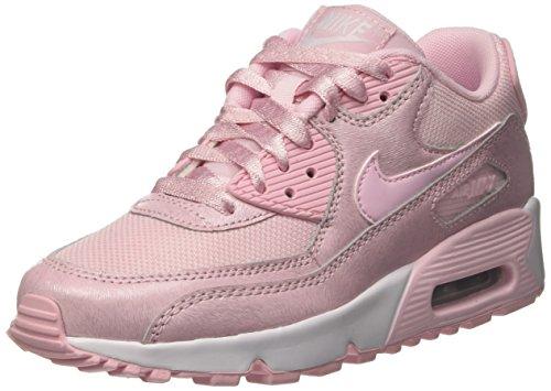Nike Air MAX 90 Mesh Se GG, Zapatillas de Gimnasia Niños, Rosa (Prism Pink/Prism Pink/White), 35.5 EU