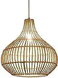 Raelf Lámpara de sombrero de paja tejido a mano E27 Moderna celosía tropical bambú ratán mimbre ratán techo colgante luz cama cama y desayuno dormitorio colgante luz japonés linterna metal ratán lámpa