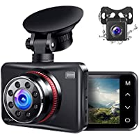 Ainhyzic Front and Rear Dual Dash Camera with Touch Button