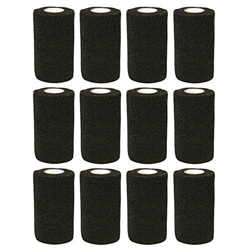 COBOX Haftbandage, Tierarztverband, selbsthaftende Bandagen zur ersten Hilfe,12Rollen, je 10cm x 4,5m