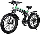 Bicicletas Eléctricas, Montaña de bicicleta eléctrica de 26 pulgadas eléctrica plegable de adulto bici 48V 500W 12.8AH Ocultos Diseño de la batería, conveniente for 21 Las palancas de cambios y modos