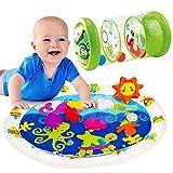 Tippi - Set 2 in 1 di materassi ad acqua e rotolo jungle - Giocattoli sensoriali per bambini dai 6 mesi in su