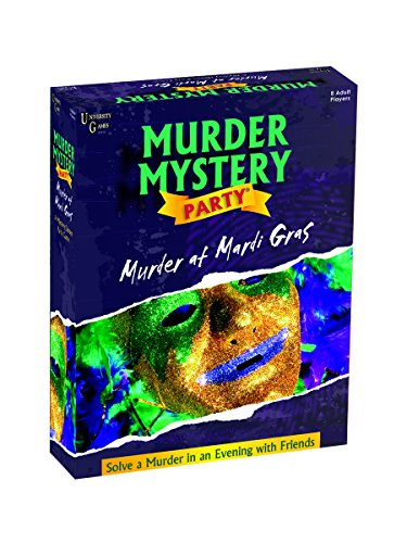 Murder Mystery Party Games - Murder At Mardi Gras, Host Your Own New Orleans Murder Mystery Dinner for 8 Adult Players, Solve the Case with Crime Scene Clues, 18 Years and Up, 1 Pack, Multi