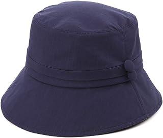 Jeff & Aimy Womens 100% Cotton Bucket Sun Hat UPF 50 Chin Strap Adjustable