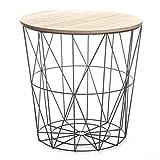 Paris Prix Table d'Appoint Design Kumi 41cm Noir