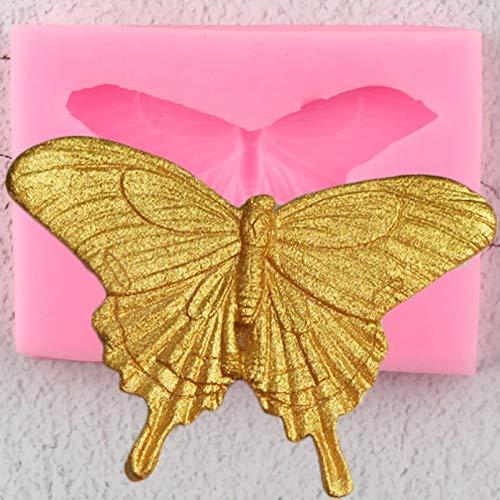 JINGYUA Moldes de Silicona de Mariposa 3D DIY Herramientas de decoración de Pasteles Cupcake Topper Fondant Molde Caramelo Arcilla polimérica moldes de Pasta de Goma de Chocolate