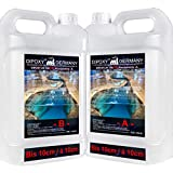 Resina epoxi DIPOXY-2K-700PRO de 158,4 kg con endurecedor 2K hasta 10 cm. Resina para laminar de calidad profesional de vidrio transparente, resina epoxi y varilla UV