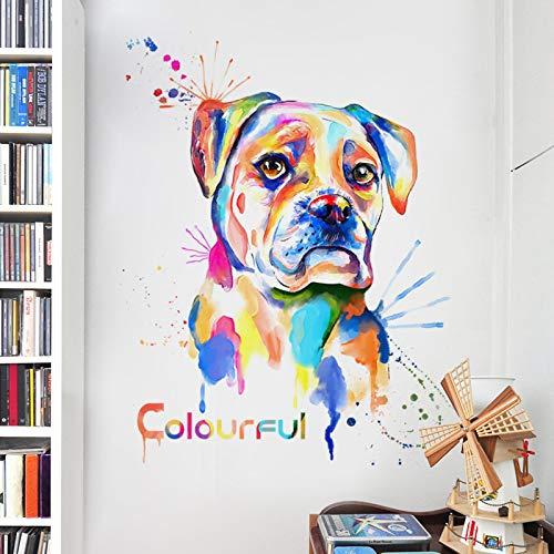 YUAHNG Personalidad Creativa doggo Off decoración Etiqueta de la Pared Estudio de Arte Simple Abstracto Autoadhesivo