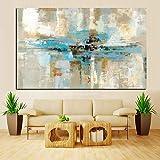 XIAOXINYUAN 100% Pintados Al Óleo Marrón Azul Abstracto Arte Moderno Pared Pared del Dormitorio Foto para Salón Decoracion 80×120Cm