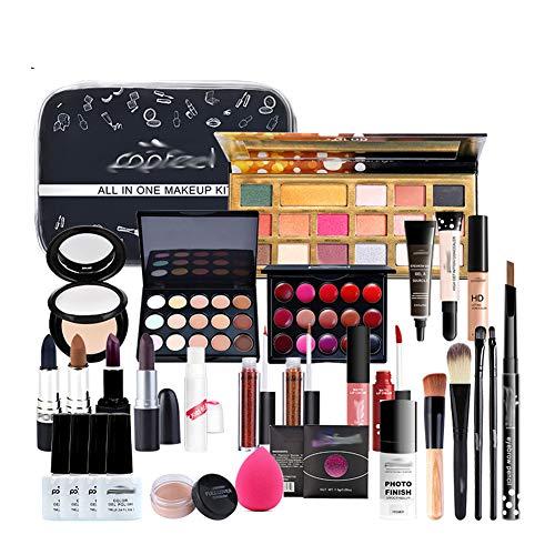 BHUJYG Schminkset Kosmetik Kit (Lidschatten Lippenstift, Augenbraue, BB Creme, Gesichtspuder,...