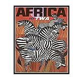 IUYTRF David Klein Twa Áfricalienzo pintura Retro Vintage Kraft cartel Diy pared hogar Bar decoración carteles regalo-50X70 cm sin marco 1 Uds