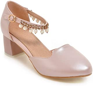 BalaMasa Womens APL11503 Pu Block Heels